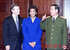 图文:傅全有会见美国防部长科恩