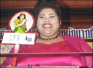 图文:泰国最胖的小姐