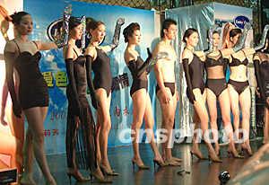 白色高清透明泳装秀 2014上海内衣泳装秀