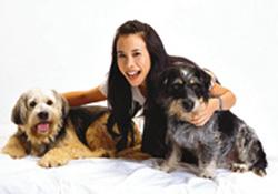 karen笑说两只小狗出奇地听话,更会作出不同的动作及表情,大赞它们图片