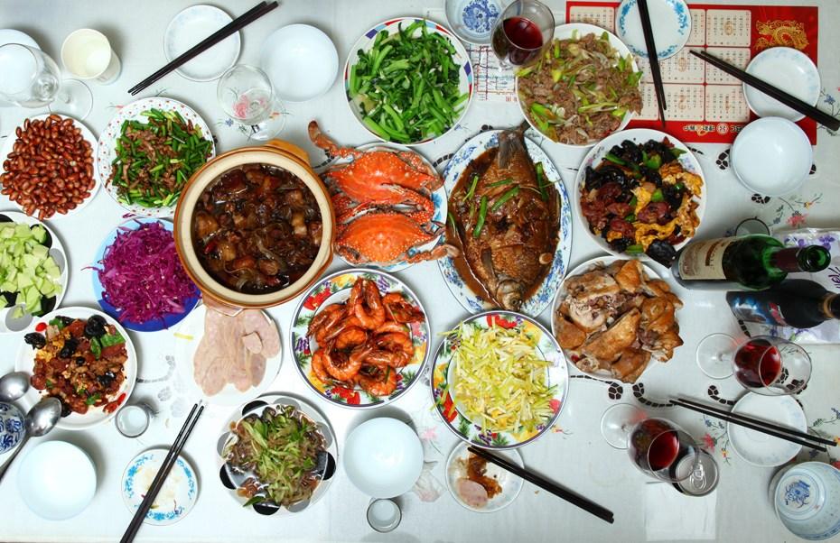 春节餐桌上的风景线