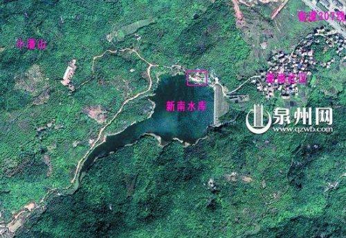 泉州洛江新南水库;   新南水库卫星地图