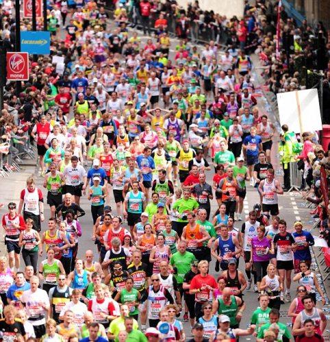 英国伦敦马拉松大赛现场