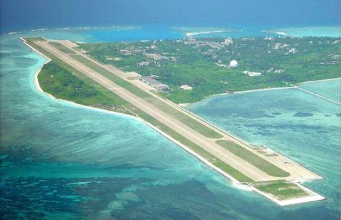资料图:永兴岛机场是南海少数可供战斗机起降的机场