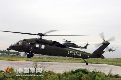 中国陆航列装的黑鹰直升机