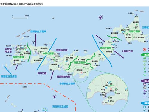 日本包围中国地图
