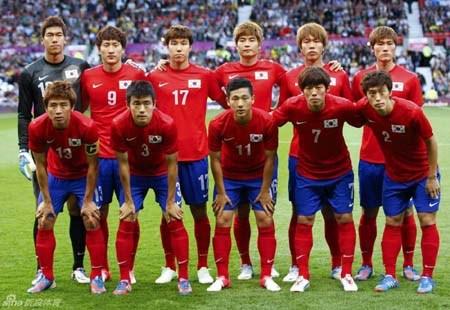 韩国伦敦奥运足球队(资料图)