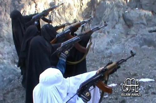 女性 训练/恐怖组织训练女性成员射击视频曝光...