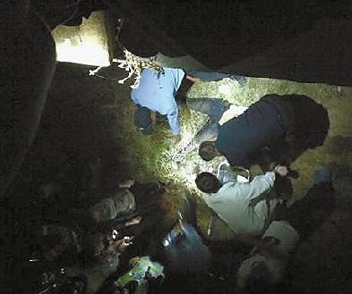 """几名男生正在对小周进行急救,图片由网友""""602341647""""提供,请与本报联系。"""
