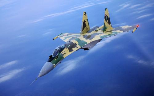 资料图:俄罗斯苏35战斗机