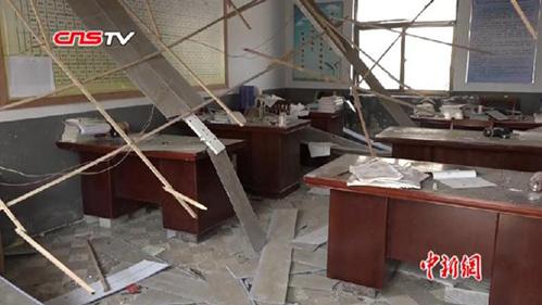 江苏盐城响水爆炸核心区一小学有序抢修