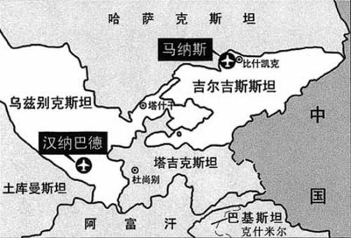 里海周边地图中文版
