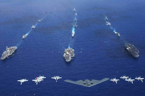 辽宁号或组单航母战斗群 编队配置三层火力