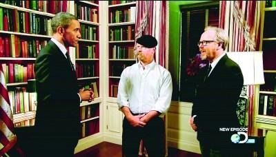 美国总统奥巴马在电视节目《流言终结者》中亮相
