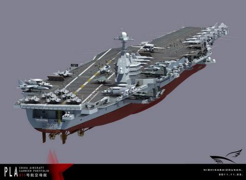 瞻望国家首艘国产航母:歼20歼31无人战机上舰(组图)