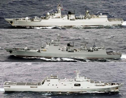 国家远海锻炼舰队屡遭日本舰机跟踪(组图)
