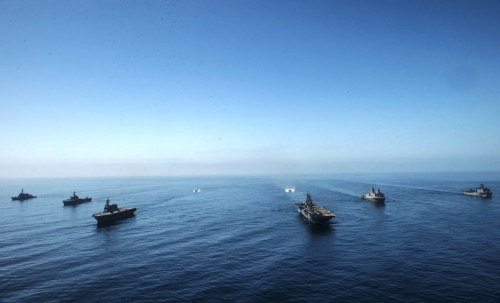日美联合两栖攻击舰队练夺岛战 (组图)
