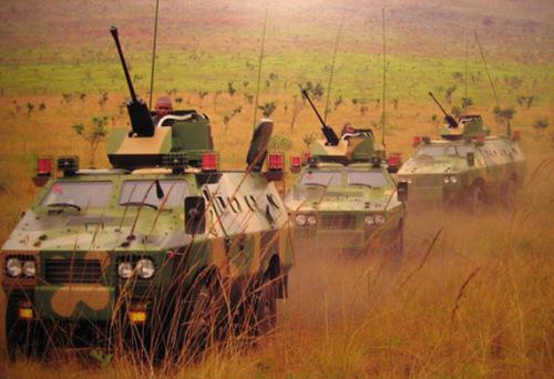 材料图:国家民企出产的坦克车列装刚果(布)陆军