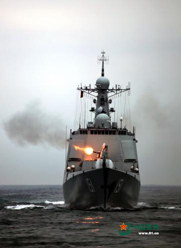 东海舰队舰群实弹袭击 郑州舰狠恶开战(组图)