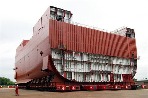 """""""基层???3""""分段分开格拉斯哥船坞"""