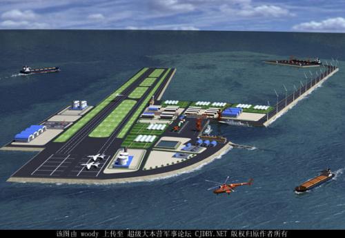 网上流传的南海岛礁建设技术储备研究课题图
