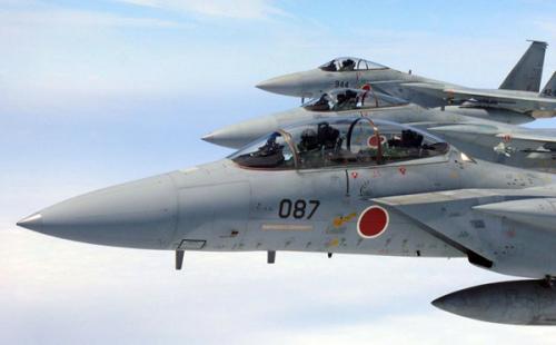日本航空侵占队F-15战机(材料图)