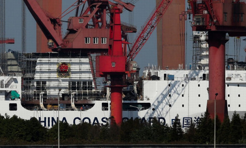日媒:中国万吨海警船将赴钓鱼岛_压倒日最大巡视船