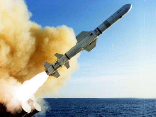 """材料图:美制""""捕鲸叉""""式反舰导弹"""
