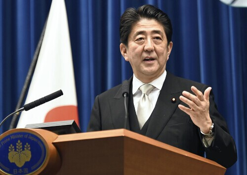 日本首相安倍晋三12月24日晚举行记者会,强调愿改善同中韩两国关系