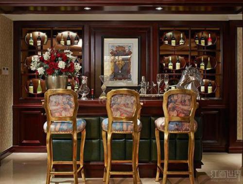 欧式古典风格家庭酒吧
