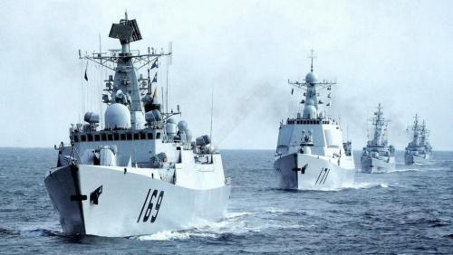 中国南海舰队战备巡逻(资料图)