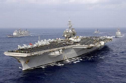 资料图:美军尼米兹级航空母舰