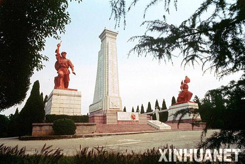 图为黄麻起义和鄂豫皖苏区革命烈士纪念碑(资料照片)。