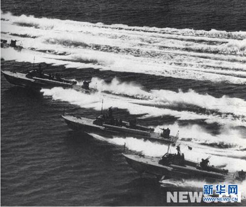一江山岛战役期间,解放军鱼雷艇部队出击