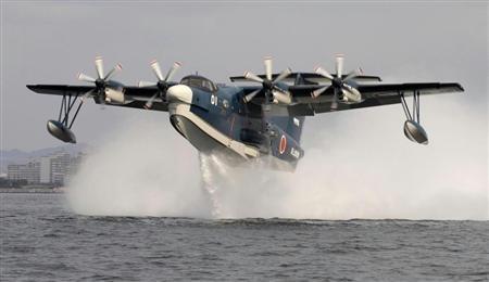 材料图像:日本海上侵占队US-2水上飞机。