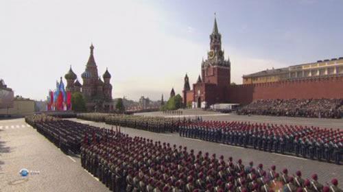 材料图:俄罗斯莫斯科红场阅兵式