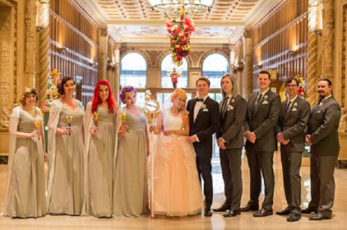 """图为""""美少密斯兵""""主题婚礼。"""