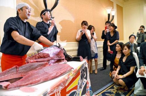 日本婚礼解刨金枪鱼。