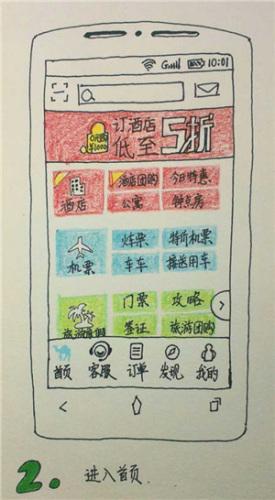 手绘说明书 母亲节教妈妈手机买电影票(图)