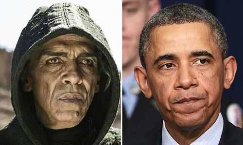 因为长相酷似奥巴马,欧扎尼表演撒花旦色诱发争议。