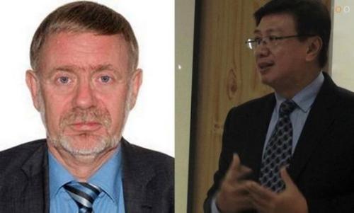 挪威驻巴基斯坦大使列夫-拉森(Leif Larsen)(左)与菲律宾驻巴基斯坦大使多明戈D 小卢塞纳利奥(Domingo D Lucenario Jr,)(右)在8日发生的直升机坠毁事故中遇难。