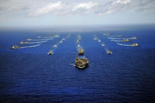 材料图:环和平洋军演