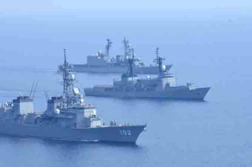 日本和菲律宾5月12日在南海争议海疆举办初次结合水师练习(图像来历:日本防守省 海上侵占队)