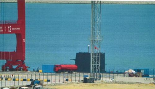 材料图:国家水师宋级潜艇现身斯里兰卡