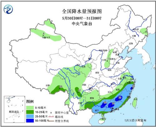 气象台解除暴雨蓝色预警 江南华南等仍有中到大雨