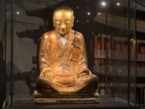 佛像 中国 肉身/肉身坐佛(图片来源:匈牙利欧洲华通社)...