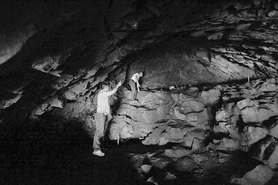 北山洞洞内景观。
