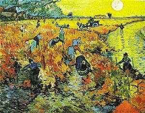 梵高生前唯一一件賣出去的作品《紅色的葡萄園》。(資料圖片)