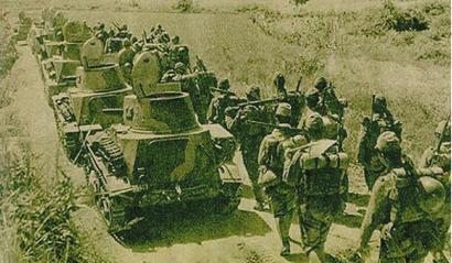 日军向武宁集结。(资料图片)