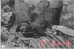被日军屠杀的马尼拉妇女儿童。(照片来源:美国国家档案馆)